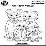 Tiger Coloring Daniel Neighborhood Pages Printable Cartoon Drawing Getcolorings Print Trolley Friends Getdrawings Pbs Inspirational sketch template