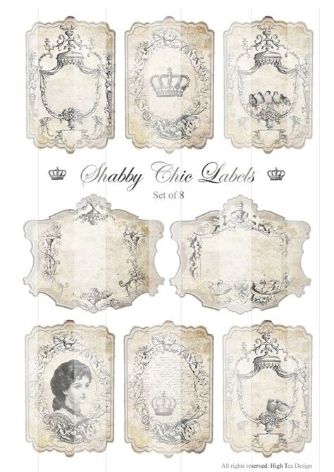 6 Best Images Of Shabby Chic Printable Gift Tags Free