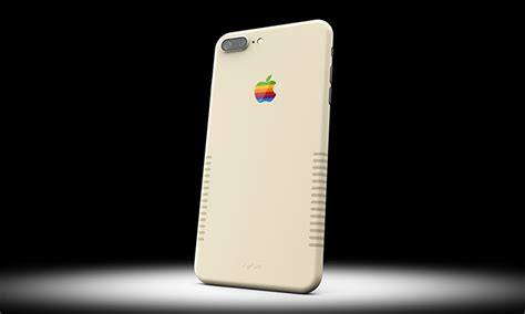 retro phone for iphone custom painted iphone 7 plus gives vintage mac vibes