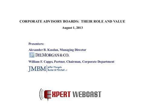 corporate advisory boards  role