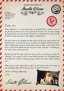 letter from santa uk letter of recommendation With santa claus letter uk