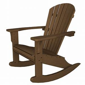Polywood seashell rocking chair adirondack rocking chair for Polywood adirondack rocking chairs