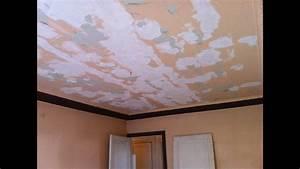 Comment Enduire Un Plafond : r nover un plafond tr s abim l 39 enduit en trois couches ~ Mglfilm.com Idées de Décoration