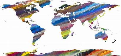 Map Poly Low Streaked Prismatic Clipart Openclipart