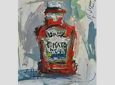Still Life with Ketchup Bottle Contemporary Artwork