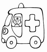Coloring Ambulance sketch template