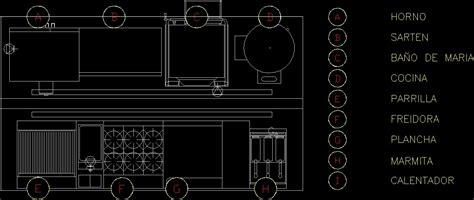 Industrial Kitchen Dwg Block For Autocad • Designs Cad