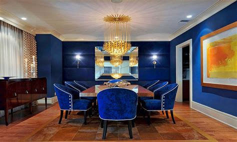 royal dining room royal blue room royal blue decorating