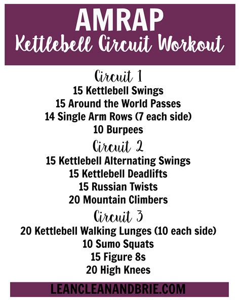 circuit kettlebell amrap workout training weight crossfit