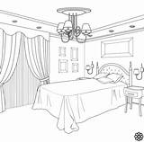 Coloring Interior Drawing sketch template