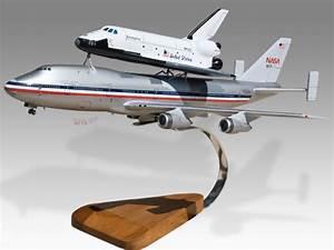Boeing 747 NASA Shuttle Carrier Aircraft Mahogany Wood ...