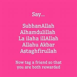 SubhanAllah, Alhamdulillah, La ilaha illallah, Allahu ...