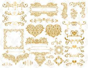 Gold Borders and Frames Clip Art