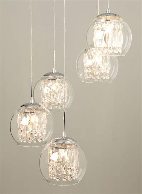 Glass & Crystal Spiral Pendant Chandelier   lighting   For