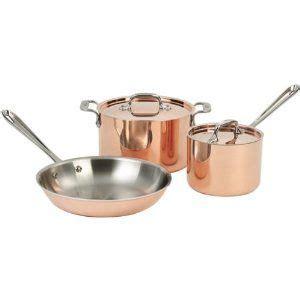 chef  clad copper cookware set copper cookware cookware set