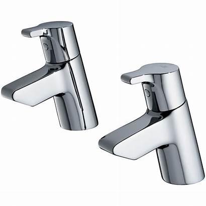 Taps Bath Ideal Standard Pillar Pair Active
