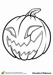 Tete De Citrouille Pour Halloween : coloriage halloween citrouille effrayante ~ Melissatoandfro.com Idées de Décoration