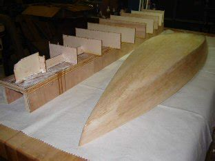 Model Boat Hull Construction by 45 R C Model Sail Boat Builders Journal S45