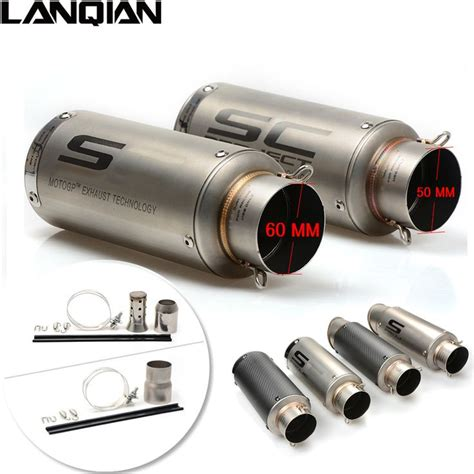 Bike Exhaust Modification by 51mm 61mm Universal Motorcycle Exhaust Muffler Dirt Bike