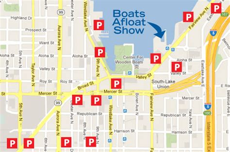 Seattle Boats Afloat Parking by Parking Streetcar Map Lake Union Boats Afloat Show
