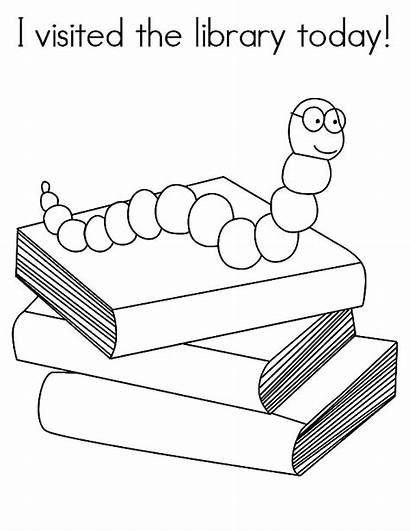 Library Coloring Pages Today Visited Sheets Librarian