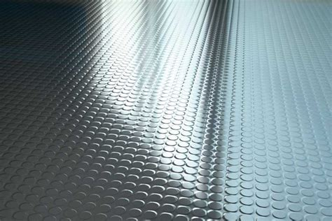 Studded rubber floor cleaning