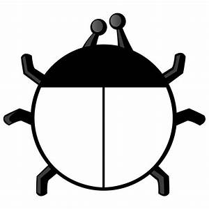 Ladybug Black And White Clipart - Clipart Suggest