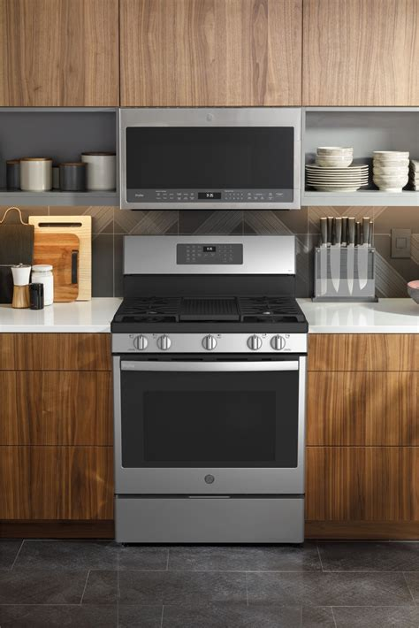 ge profile pgbypfs   gas range convection air fry stainless steel