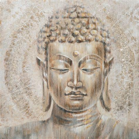 buddha bild leinwand wandbild buddha goldflower auf leinwand 100 x 100