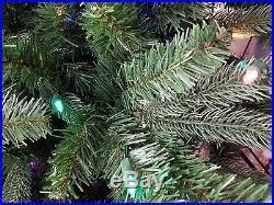 home accents sierra nevada tree new 9ft prelit nevada fir tree led clear multi color changing