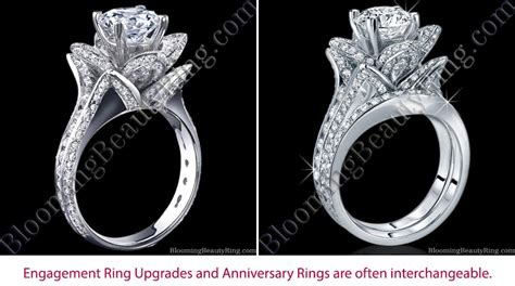 engagement ring upgrade or anniversary ring unique engagement rings for women by blooming