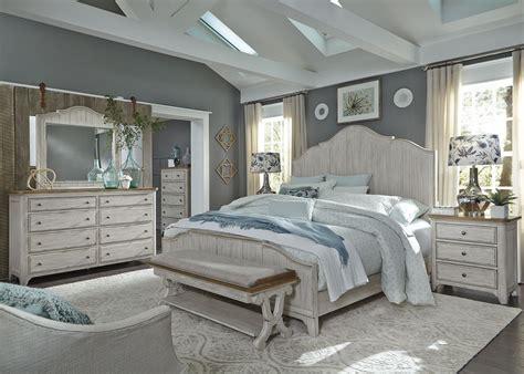 farmhouse bedroom set farmhouse reimagined antique white panel bedroom set from