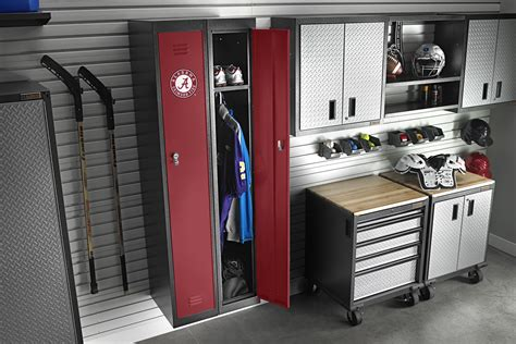 gear up with team colors remodeling design interiors garage lighting fencing and railing