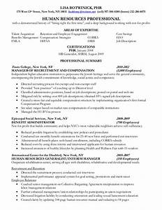 human resources professional resume With human resources professional resume