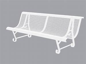 Banc En Fer : banc de jardin m tallique 2 pieds trous carr s longueur 200 cm ~ Preciouscoupons.com Idées de Décoration