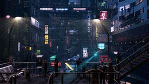 Cyberpunk street by Konstantin3001 on DeviantArt