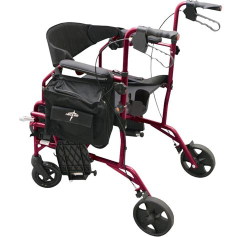 Rollator Transport Chair Combo by Medline Excel Translator Combination Rollator And