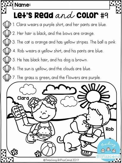 Comprehension Kindergarten Activities Worksheets Reading Listening Grade
