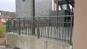 Garde Corps Metal : escalier garde corps bas rhin alsace rb metal design ~ Nature-et-papiers.com Idées de Décoration