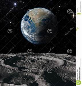 Earth And Moon Stock Photo - Image: 43822146