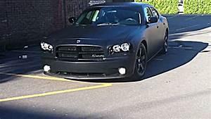 Lowered Matte Black 2010 Dodge Charger