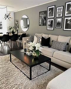 33, Perfect, Black, And, White, Color, Ideas, For, Your, Living, Room, Decor