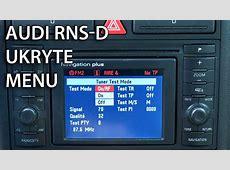 Jak uruchomić ukryte menu serwisowe w RNSD Navigation