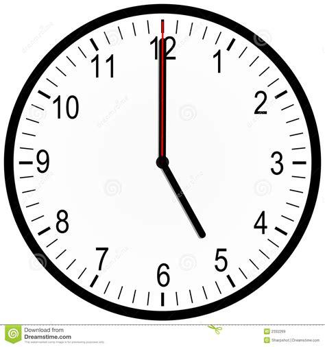 heures de bureau horloge de bureau 5 heures illustration stock
