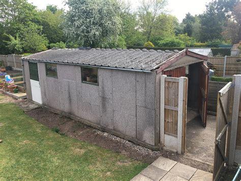 asbestos removal demolition concrete garage base