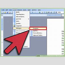 3 Ways To Add A Footnote To Microsoft Word Wikihow