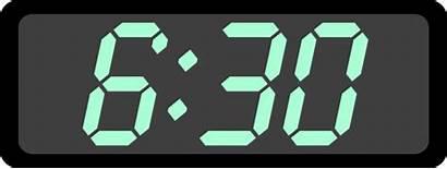 Clock Clipart Digital Clip Clker Vector Svg