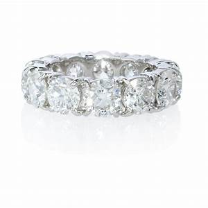 platinum diamond eternity wedding band ring ebay With platinum wedding rings ebay