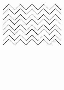 Chart Graphing Zig Zag Pattern Template Printable Pdf Download