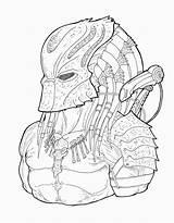 Machete Ronniesolano Masked Yautja Elder Sketches Desenhos sketch template